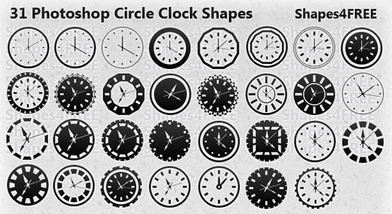 31-circle-clock-shapes-lg & Download for Free Best Photoshop Custom Shapes