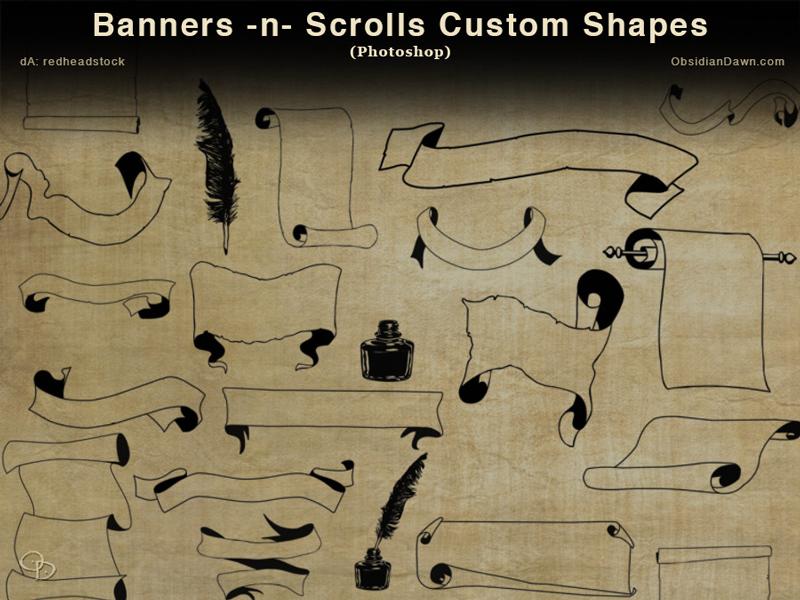 blog free photoshop custom shapes
