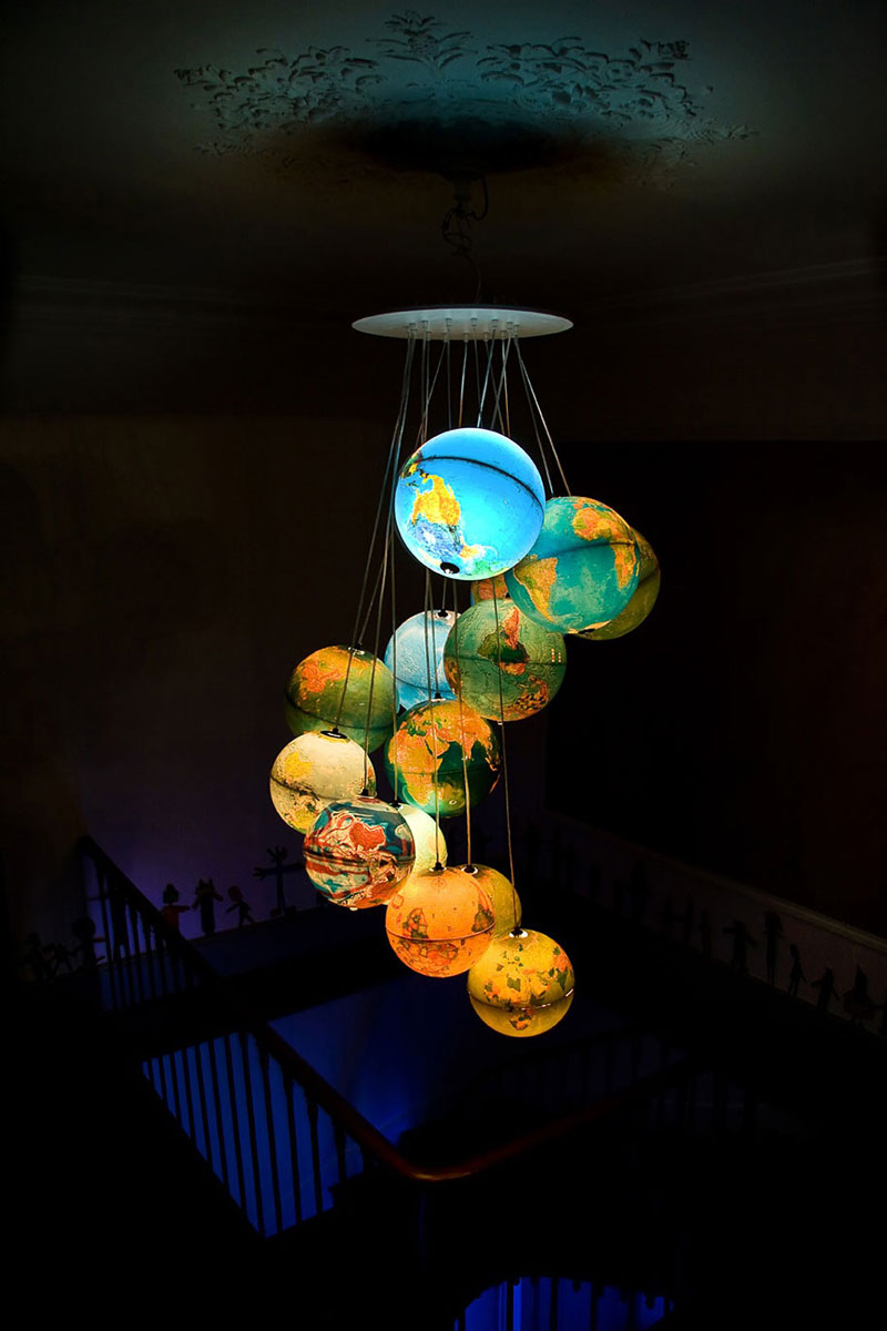 Cool lamps and chandeliers made of every day objects