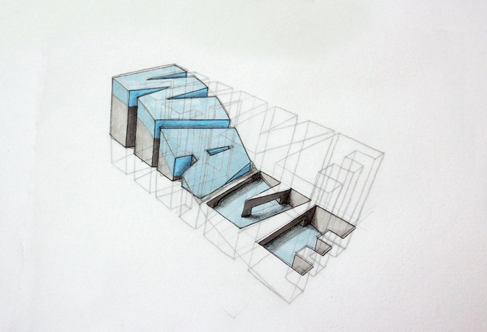 3D typography with a message by Lex Wilson