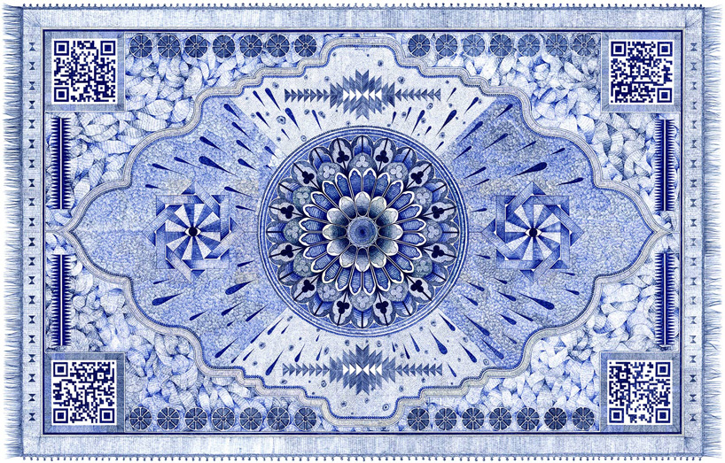 Incredible carpets drawn with a ball-point pen by Jonathan Bréchignac