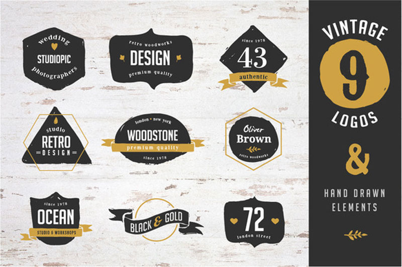 10 free templates mockups for creating awesome logo designs