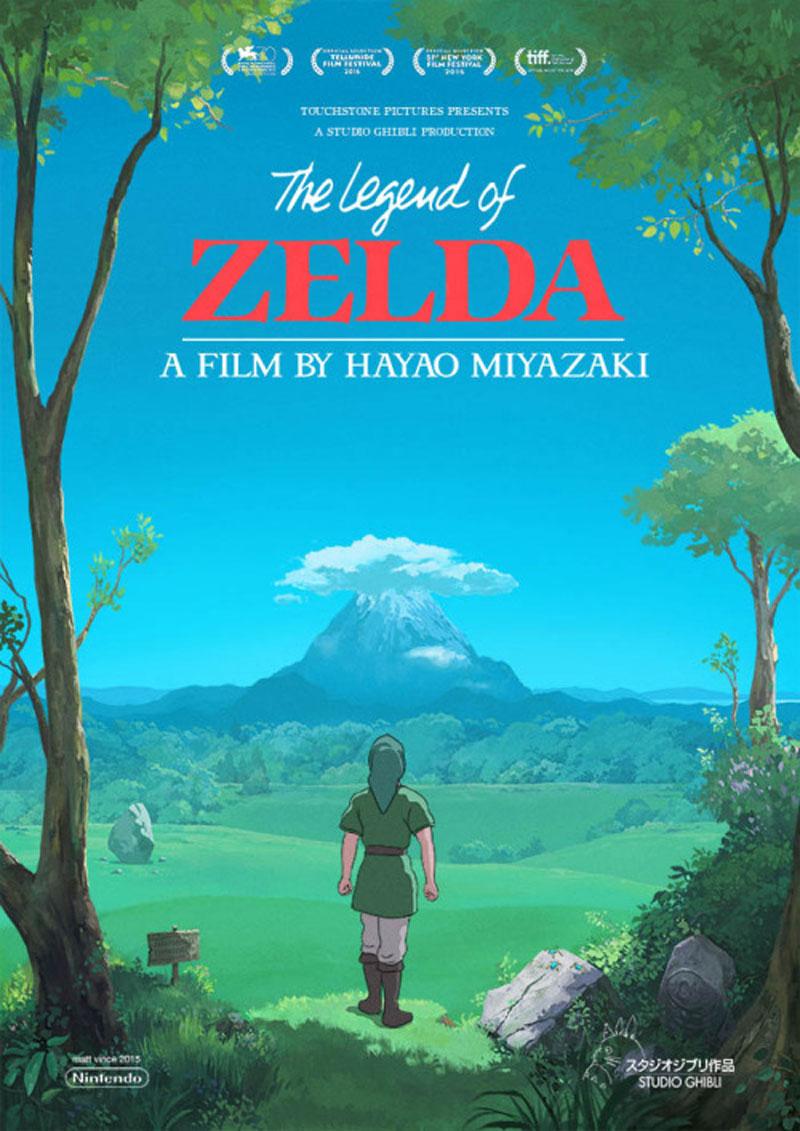 Posters of Legend of Zelda in Studio Ghibli's style