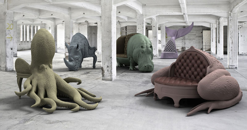 The spectacular animal chair collection by Maximo Riera