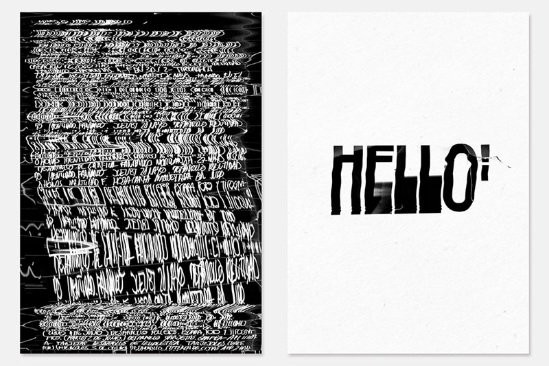 Scanmania: typographic posters full of beautiful glitches