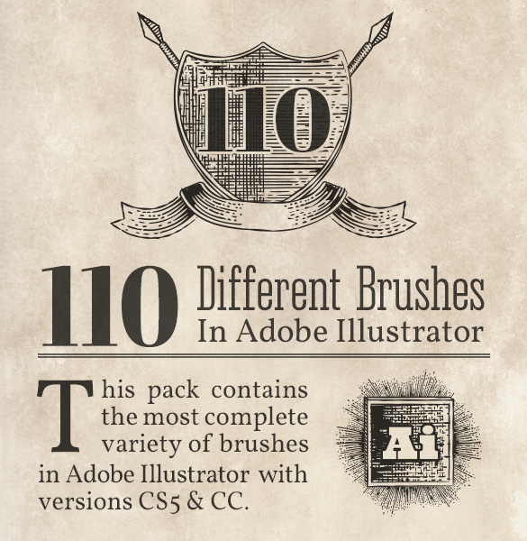 110-vintage-engraving-vector-brushes-pack