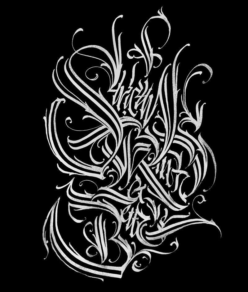 The incredible modern calligraphic work by Pokras Lampas