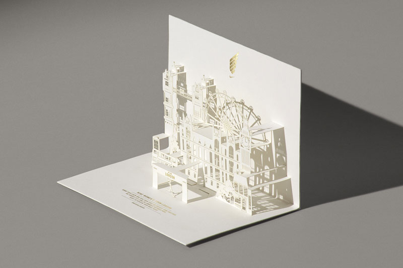 A look at Happycentro's design work with paper