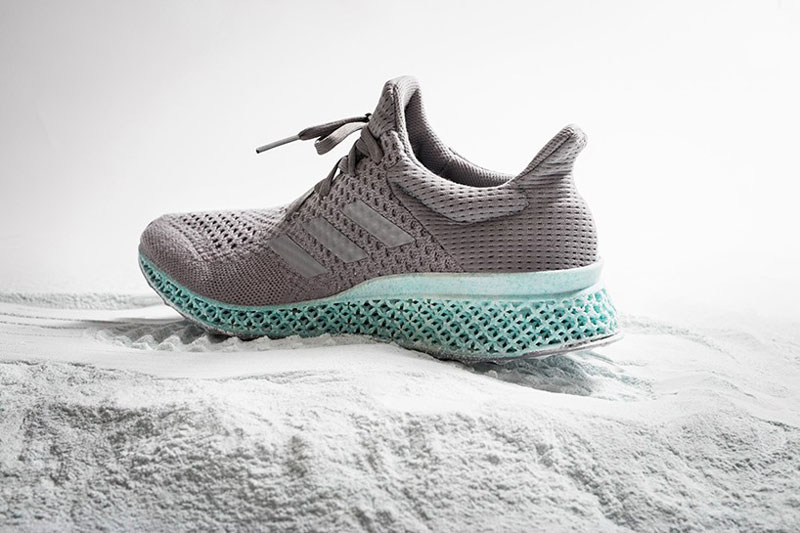 A 3D printed shoe made from collected ocean plastic waste