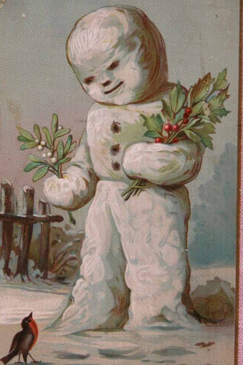 these victorianera christmas cards were dark and funny