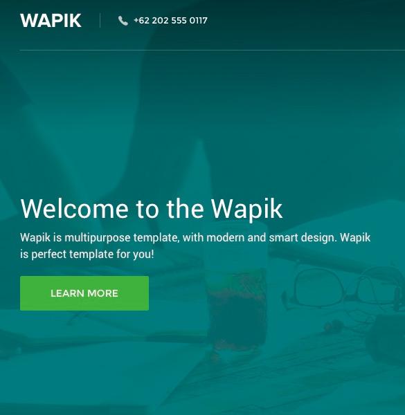 wapik-clean-landing-page-psd-template