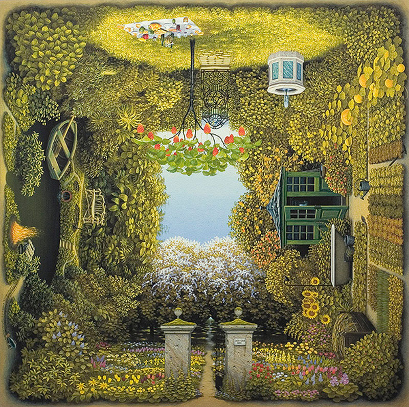 Four sided paintings by Jacek Yerka