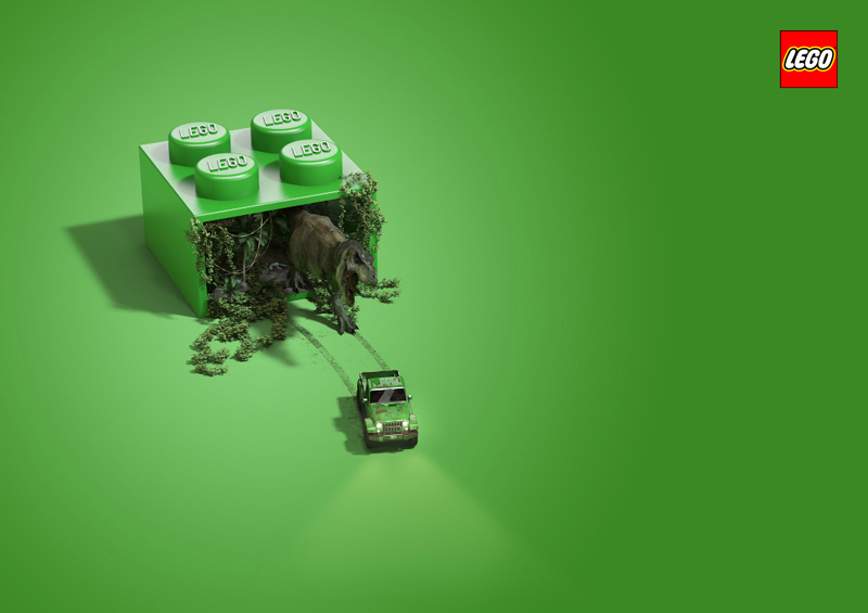 A collection of creative ads for Lego