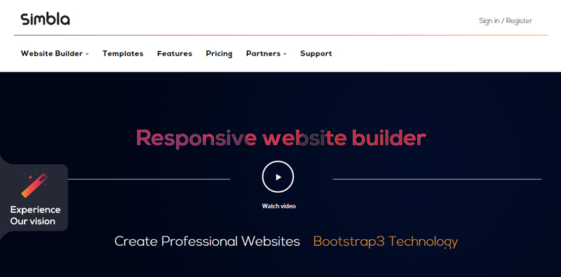 Create responsive websites intuitively with Simbla