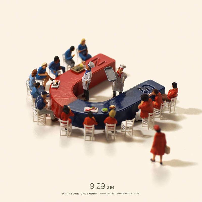New mini-people scenes by Tatsuya Tanaka
