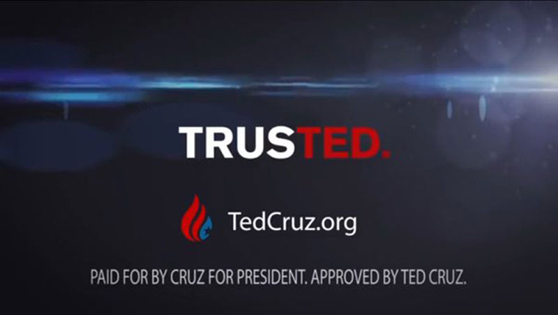 There is something wrong with Ted Cruz's Trusted logo