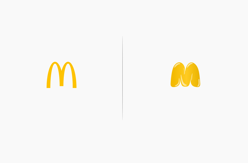 What the logos of popular brands would look like if they used their own products