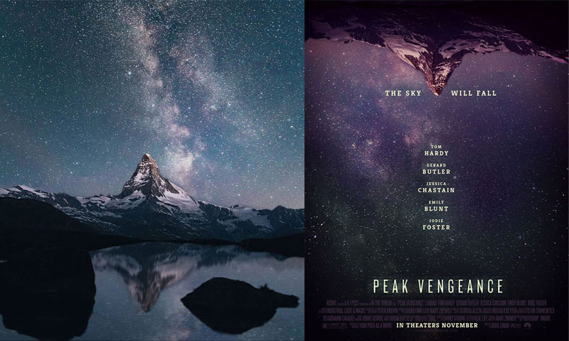 This designer takes random photos on the Internet and turns them into movie posters