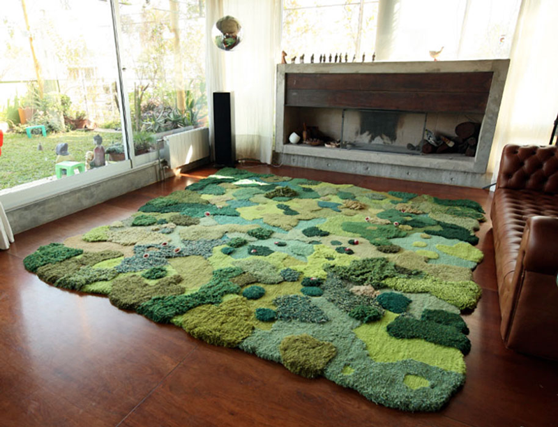 Mossy rugs that bring nature into your house