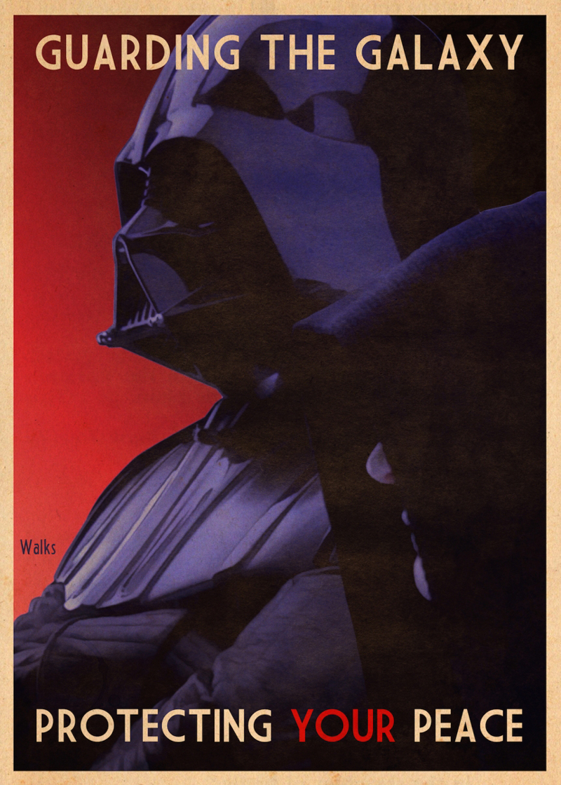 Russell Walks creates alternative poster art with Star Wars iconography
