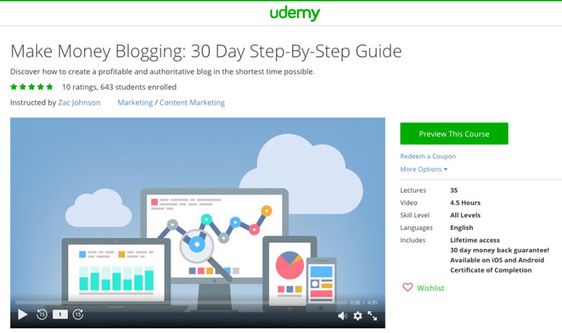 10 Free Pass to Make Money Blogging Video Course