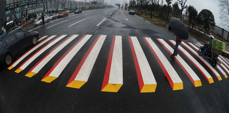 India will use 3D paintings to slow down drivers