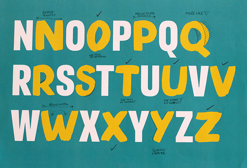 A typeface designed by Fontsmith for a health campaign