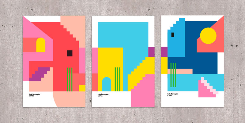 Colorful posters created by Ingrid Picanyol