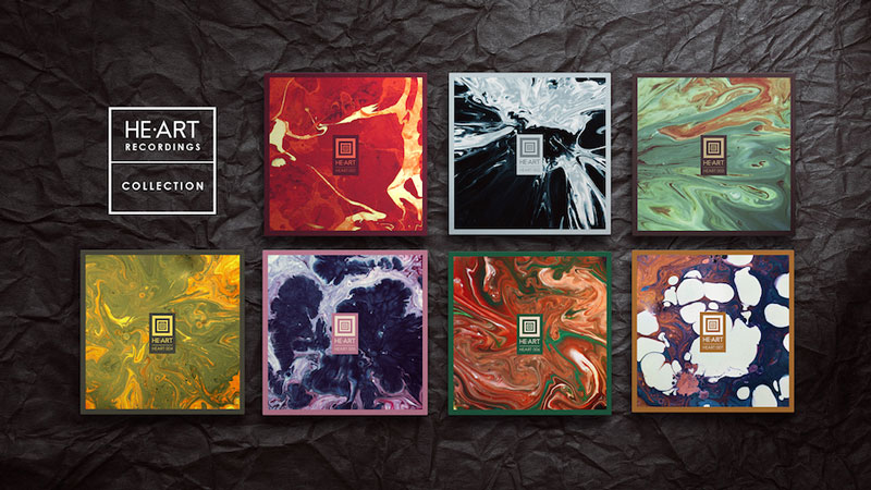 Vinyl covers designed by playing the music against ink
