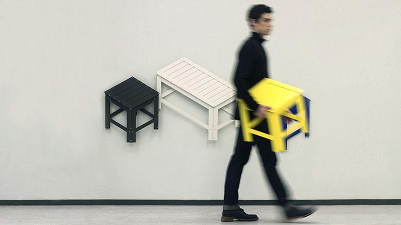 Jongha Choi designed furniture that fold in 2D. furniture design   Designer Daily  graphic and web design blog