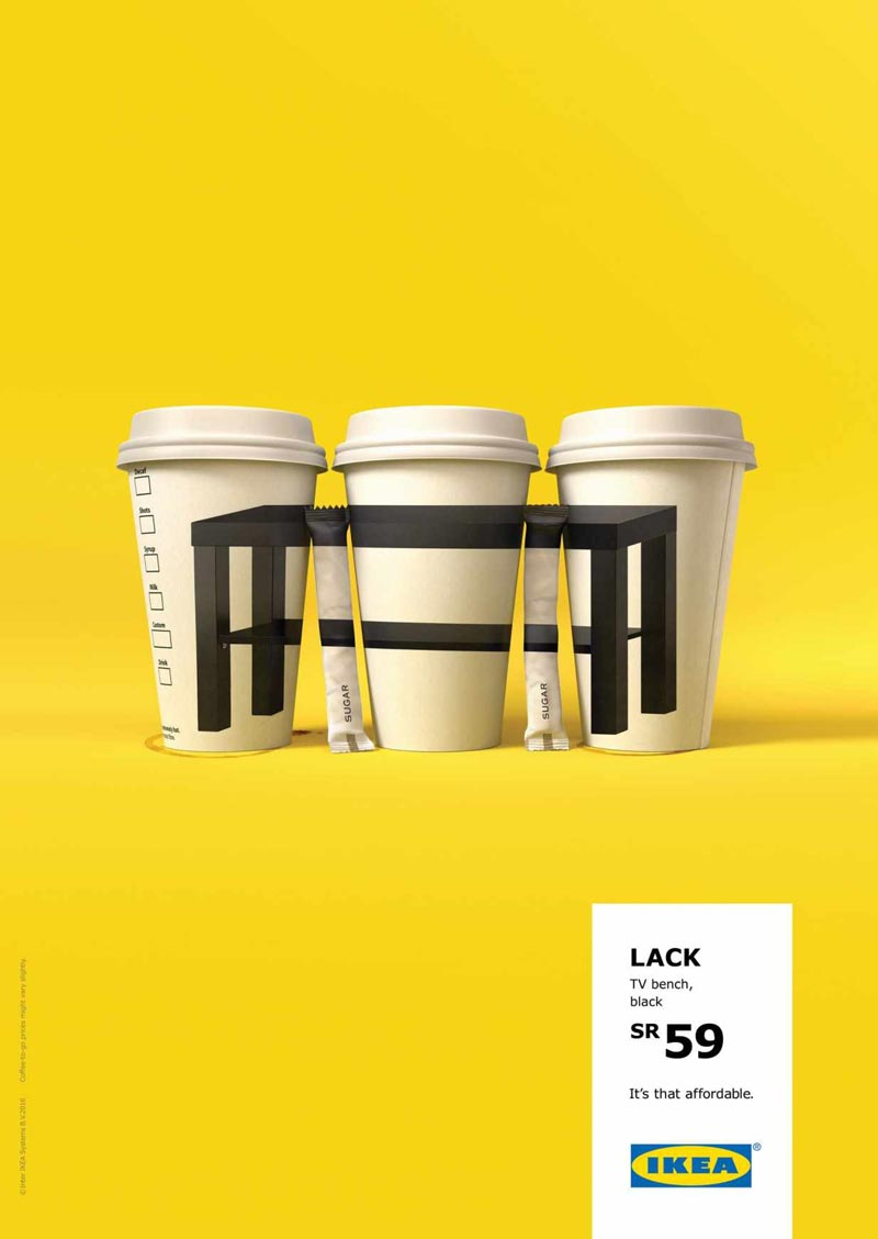 A Smart Ikea Campaign That Emphasizes On The Products Low