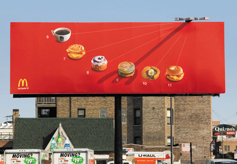 a collection of fun and creative billboard ads designer