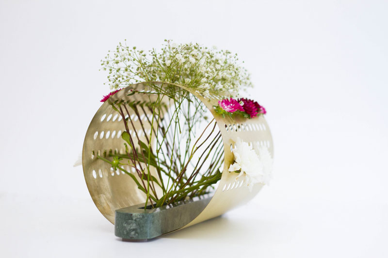 Ikebana-inspired vases by Omer Polak