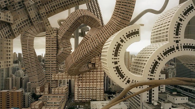 Artists imagine what Osaka would look like with organic buildings