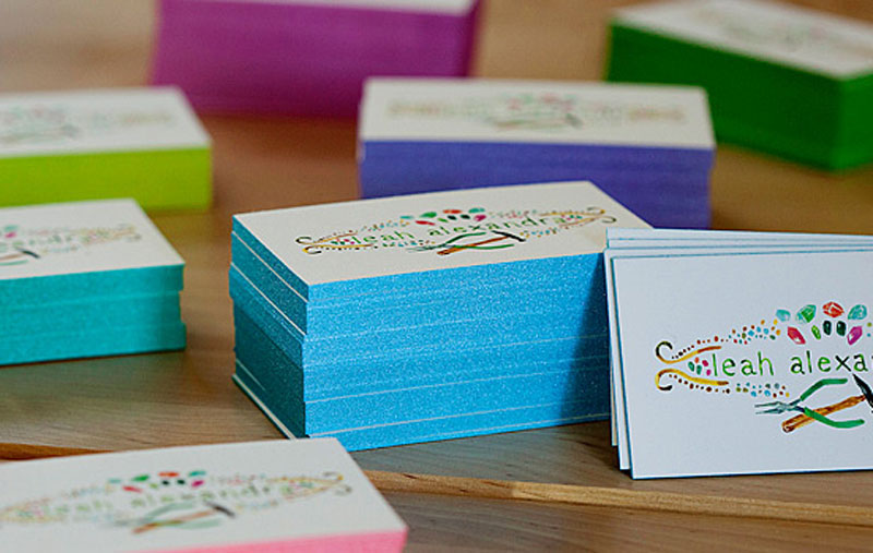 Create innovative business cards at jukebox print edge coloring business cards reheart Image collections