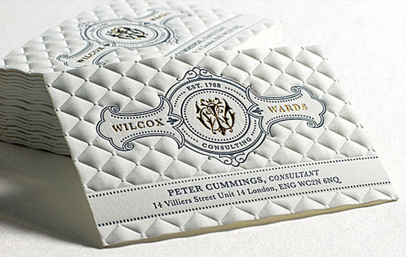 Create innovative business cards at jukebox print embossed texture business card reheart Gallery