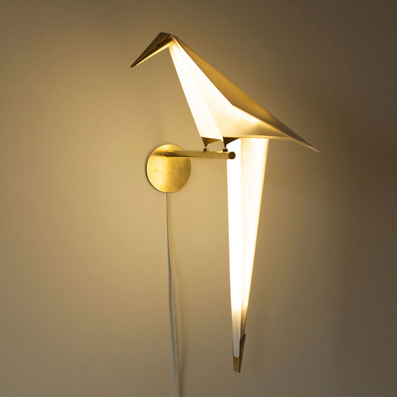 Lovely origami bird light by Umut Yamac