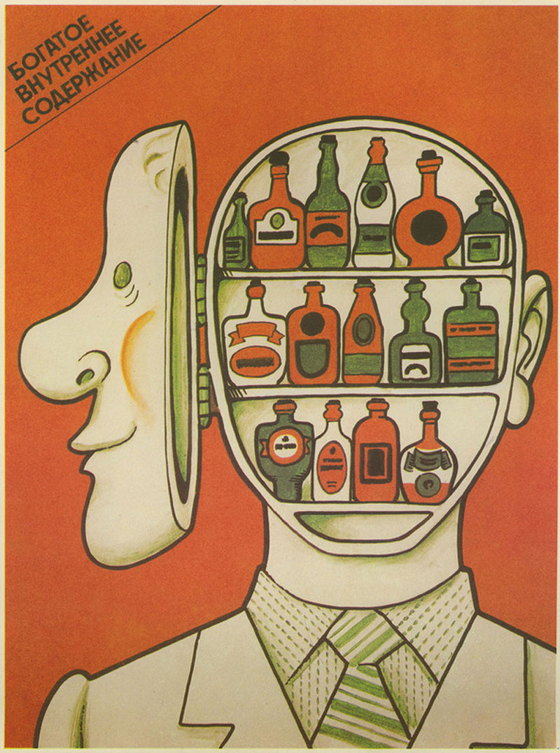 Anti-alcohol advertising posters from the Soviet era