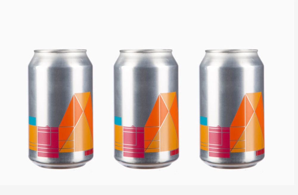 Beer cans designed by Peter Saville and Tate Design Studio