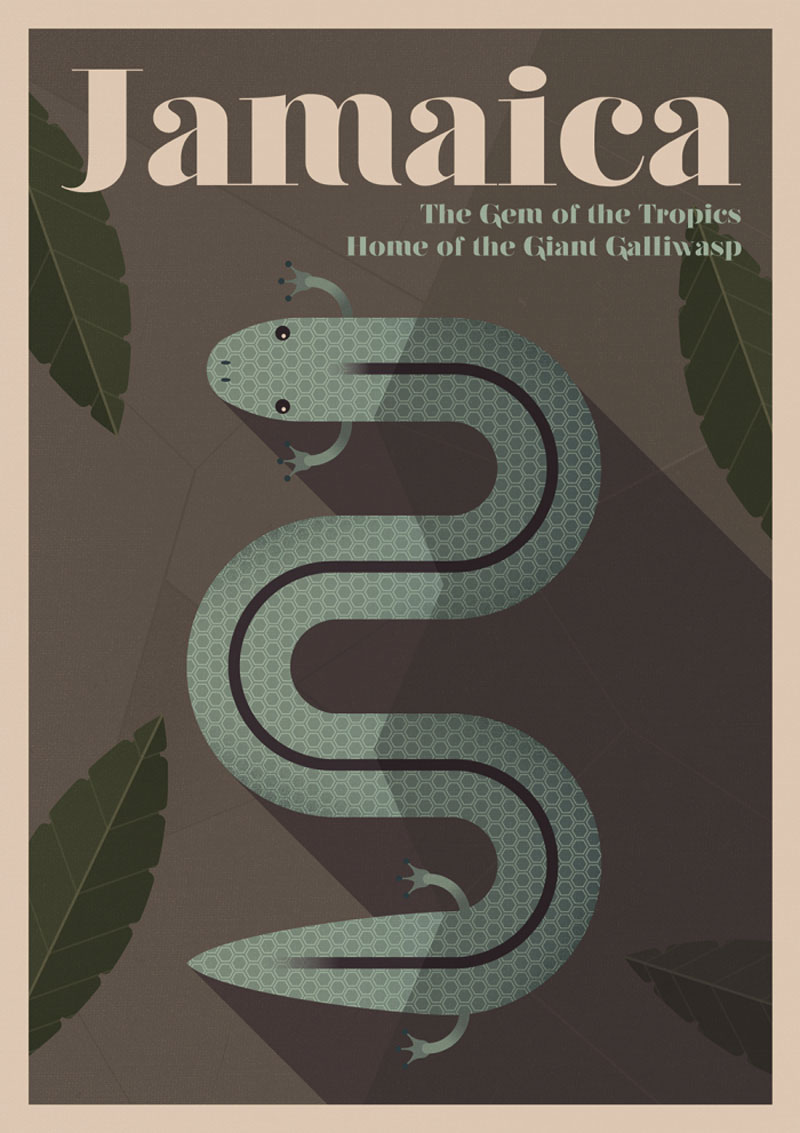 Unknown travel: poster tributes to extinct animals
