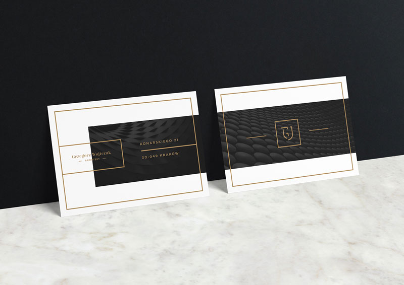 Minimalist business cards by Przemek Bizoń
