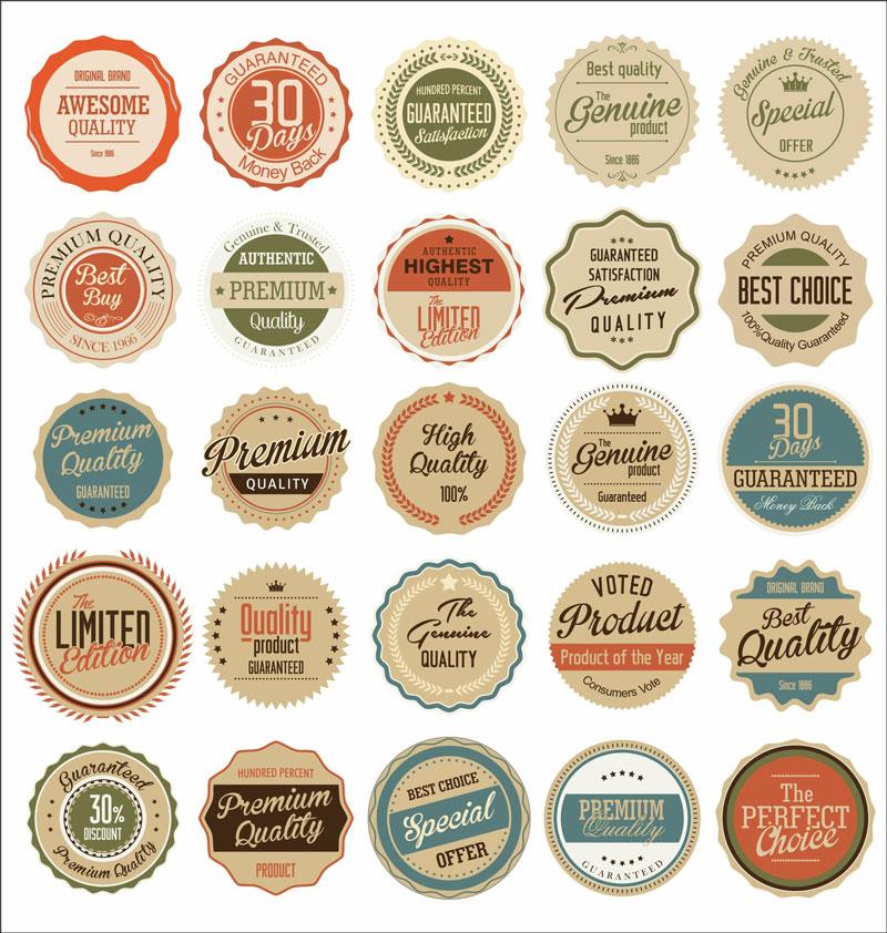retro-badges