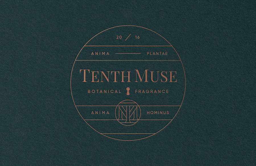 Tenth Muse identity by Studio MPLS