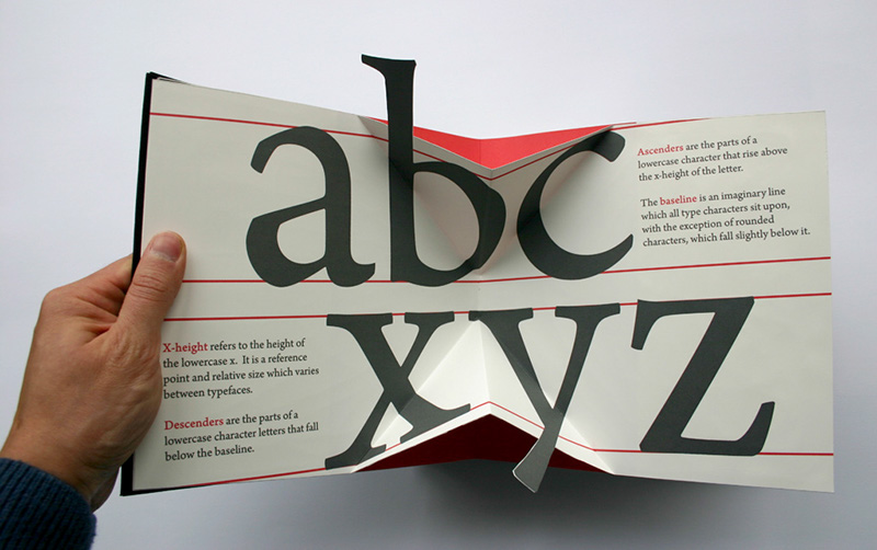 An impressive 3D movable book about type
