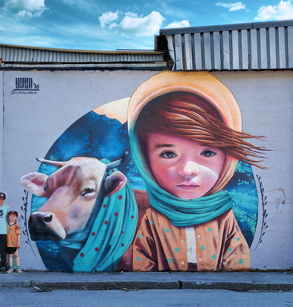 Spectacular street art portraits by Yash