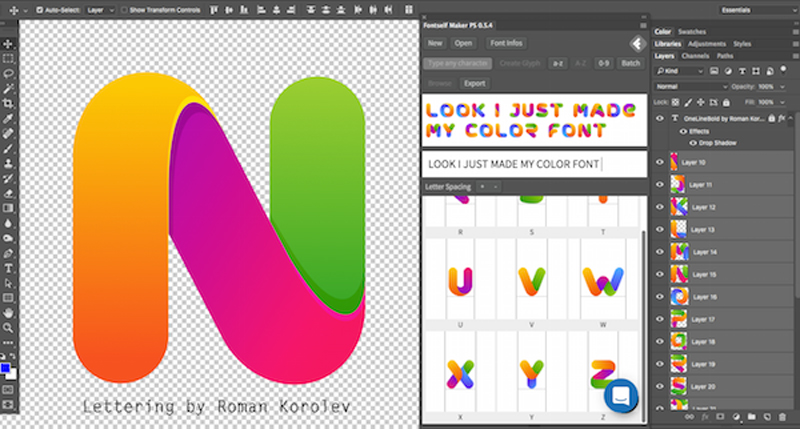 With Fontself, you can now create fonts directly from Photoshop