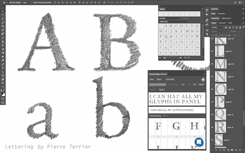 how to add new font photoshop