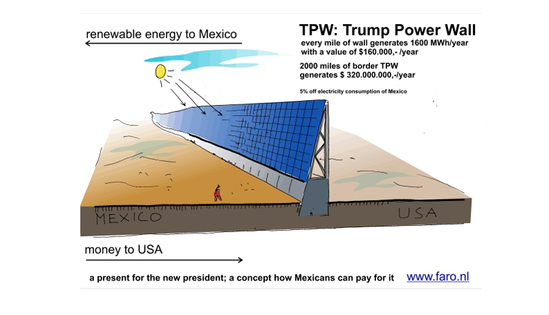 A designer's proposal for a Trump wall that Mexico will pay