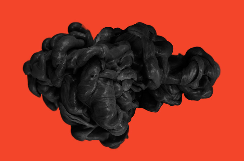 Dark Matter: gorgeous photos of black ink in water
