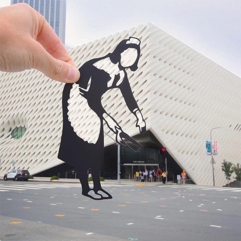 Paperboyo transforms famous landmarks using paper cutouts